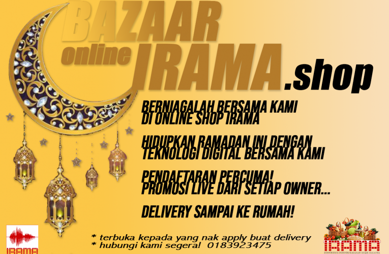 IRAMA sedia Bazaar Ramadan Online untuk Artis berniaga