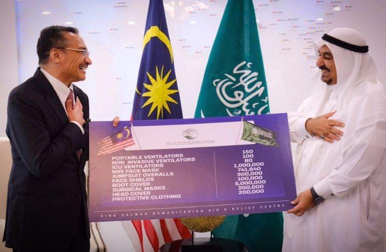 Arab Saudi sumbang lebih 7 juta unit peralatan perubatan kepada Malaysia